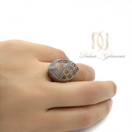 انگشتر نقره زنانه طرح طلای توری rg-n304