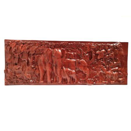 تابلو چوبی نقش برجسته سه بعدی منبت طرح فیل dc-09