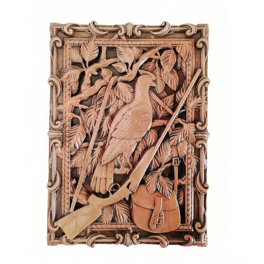 تابلو چوبی نقش برجسته سه بعدی منبت پرنده طرح dc 07   تابلو چوبی نقش برجسته سه بعدی منبت پرنده طرح dc-07