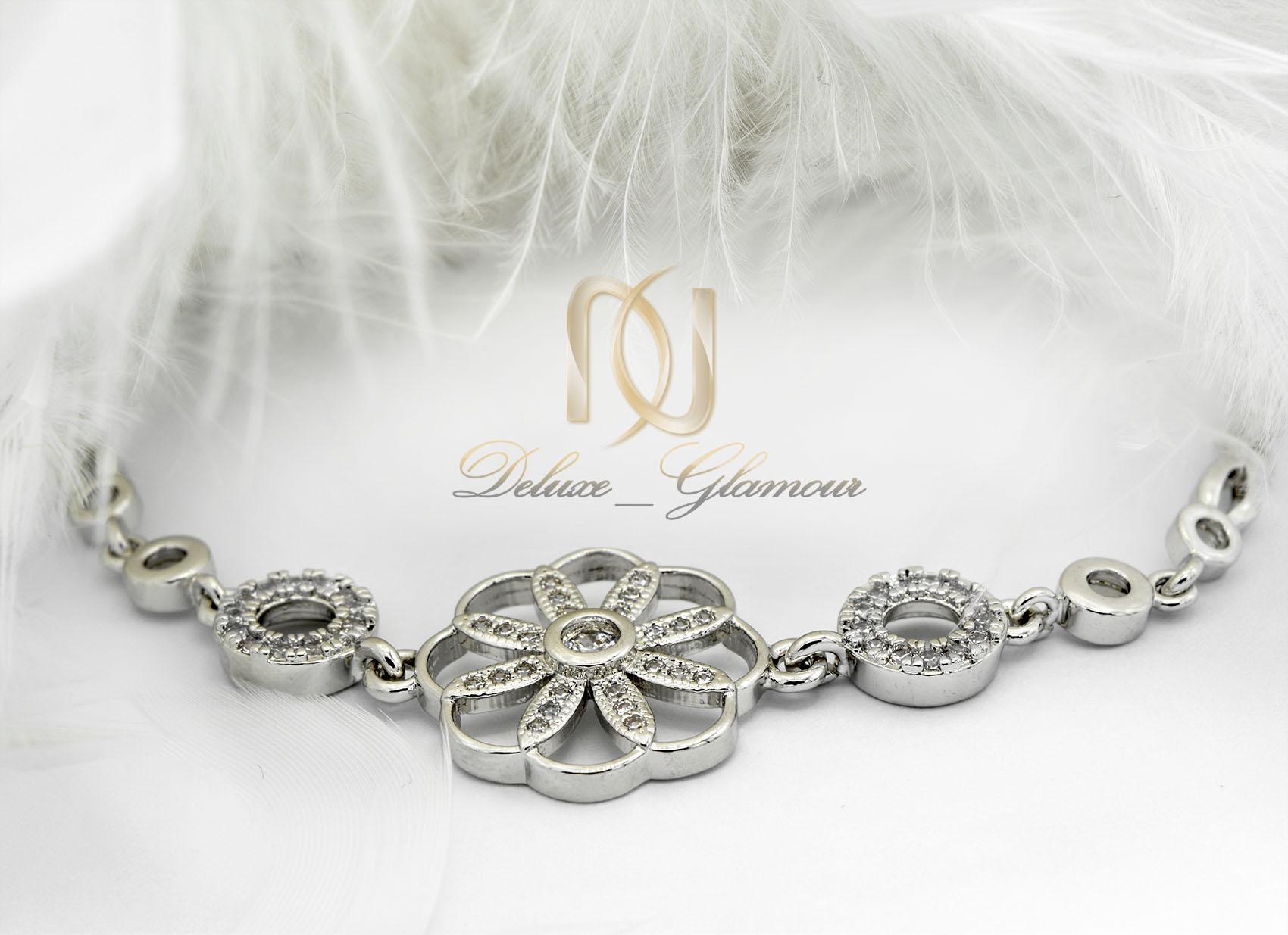 دستبند استیل دخترانه طرح گل ظریف فری سایز ds-n015