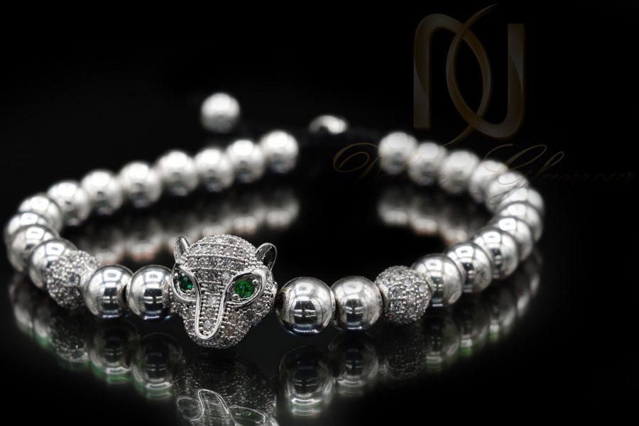 دستبند اسپرت دخترانه سنگ حدید با کریستال سوارسکی zn-n116