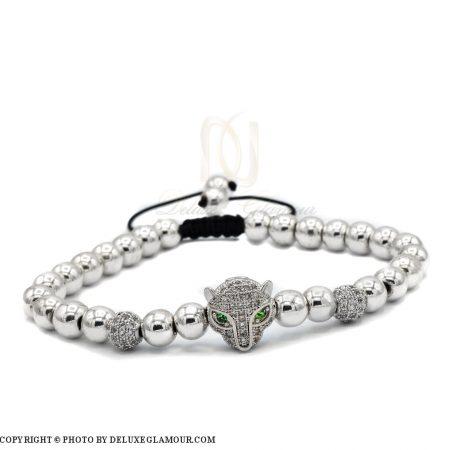 دستبند اسپرت دخترانه سنگ حدید با کریستال سوارسکیzn-n116 از نمای نزدیک
