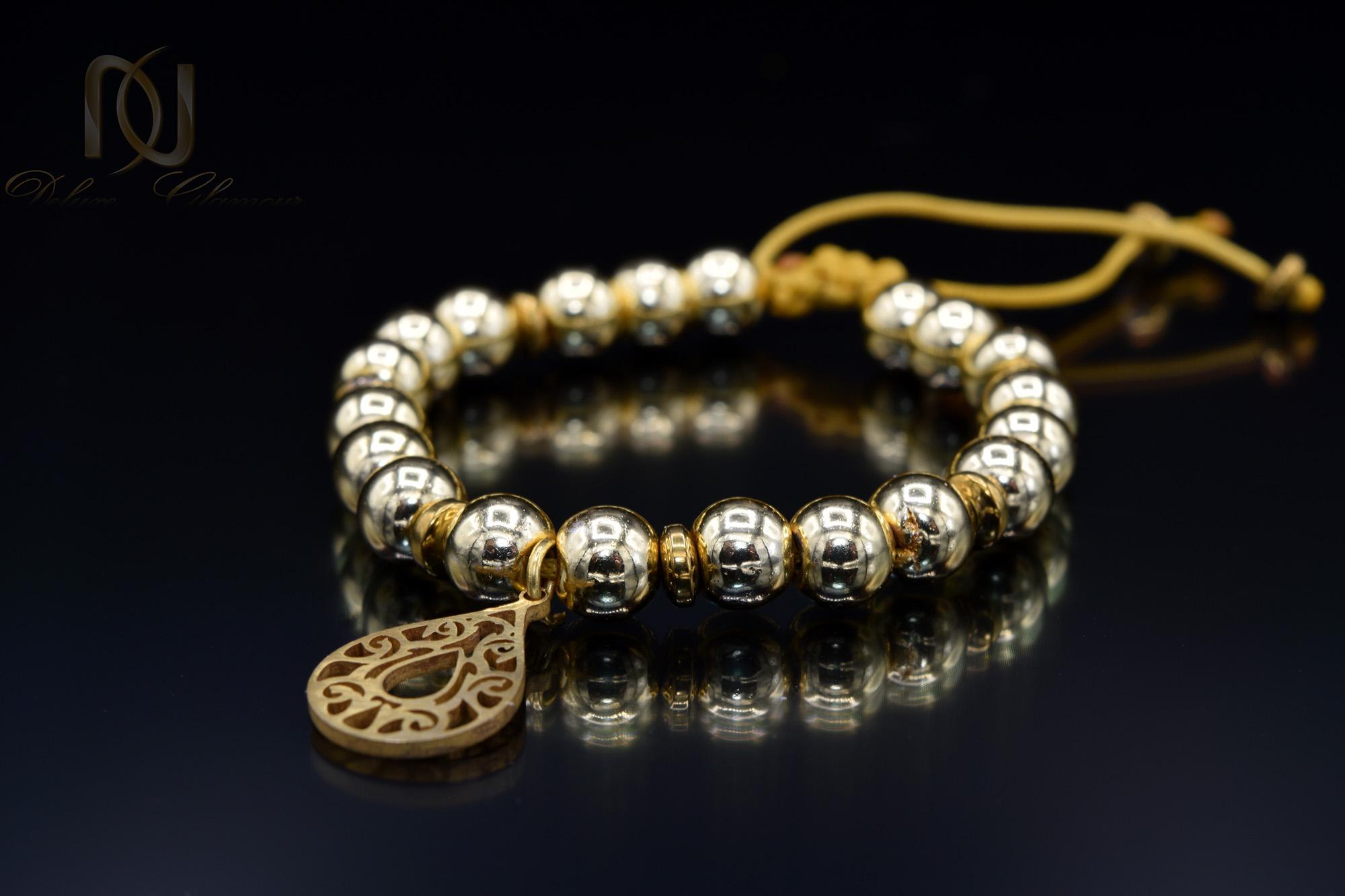 دستبند اسپرت دخترانه سنگ حدیدza-n122 از نمای نزدیک