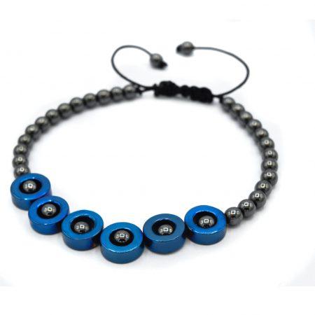 دستبند اسپرت دخترانه سنگ حدید za-n123