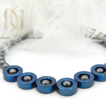 دستبند اسپرت دخترانه سنگ حدیدza-n123 از نمای نزدیک