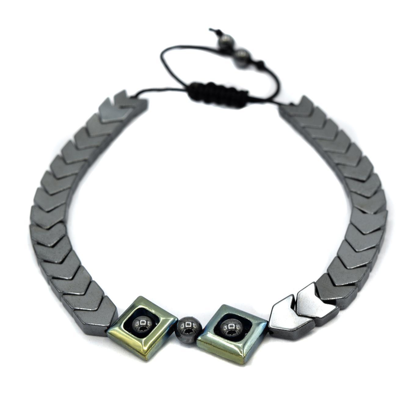 دستبند اسپرت دخترانه سنگ حدید zn-n118