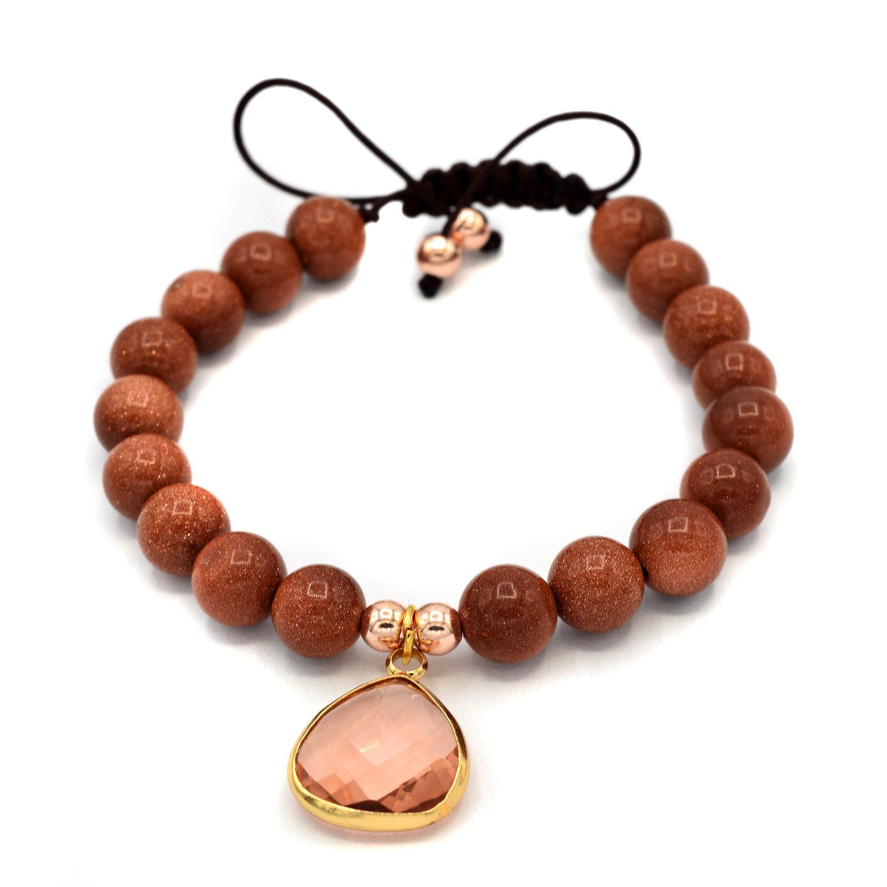 دستبند اسپرت دخترانه سنگ دلربا za-n126 از نمای نزدیک