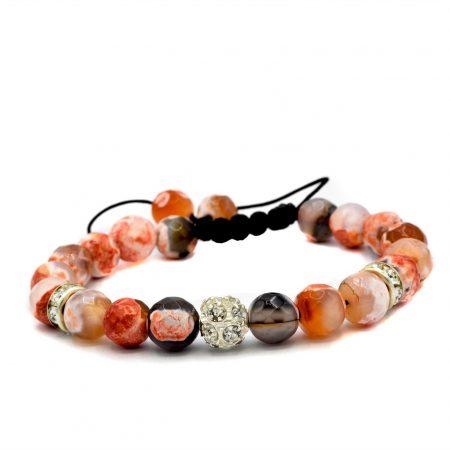 دستبند اسپرت دخترانه سنگ عقیقzn-n121