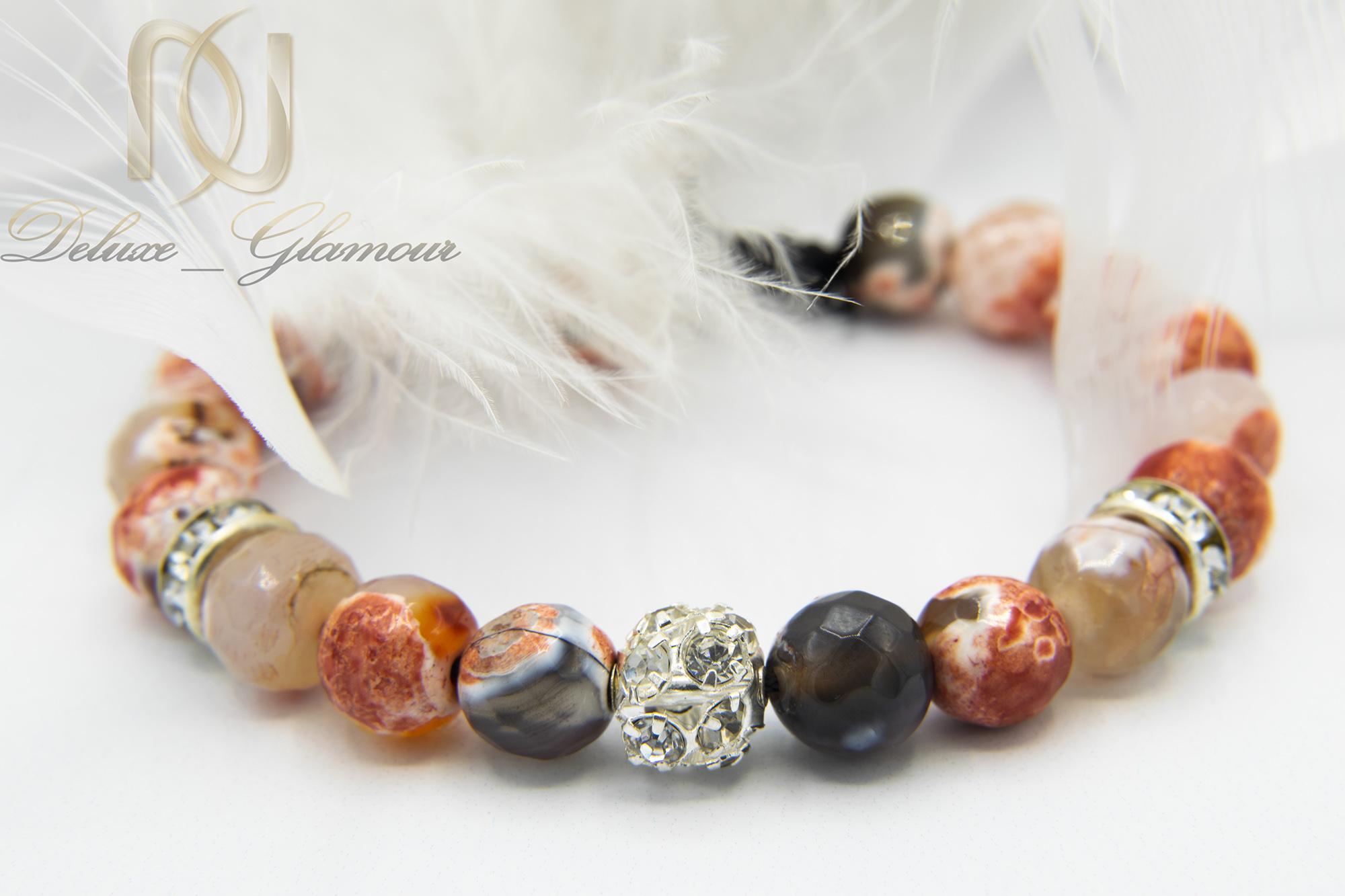 دستبند اسپرت دخترانه سنگ عقیقzn-n121 از نمای نزدیک