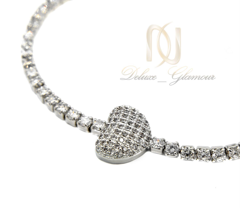دستبند دخترانه استیل طرح قلب ds-n401 از نمای کنار