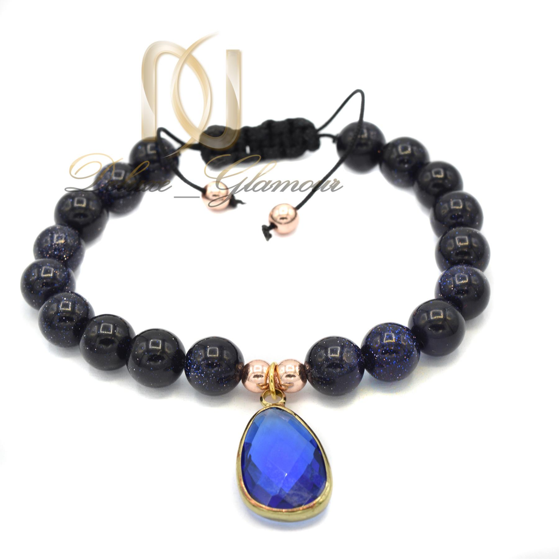 دستبند دخترانه اسپرت سنگ اونیکسza-n125 از نمای نزدیک
