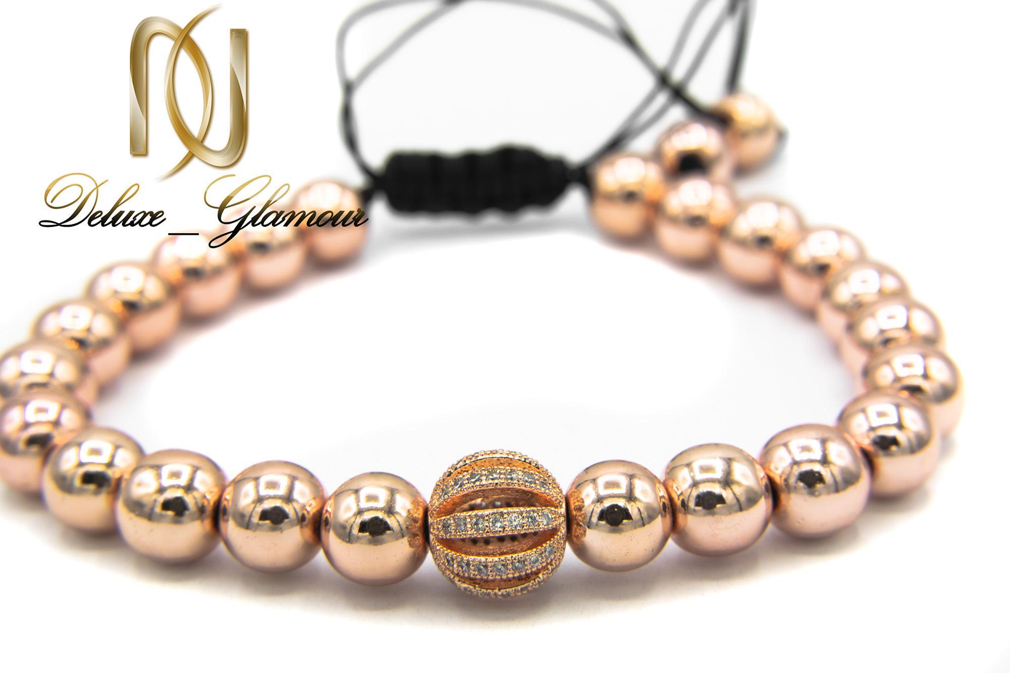 دستبند دخترانه اسپرت سنگ حدید za-n113 از نمای روبرو
