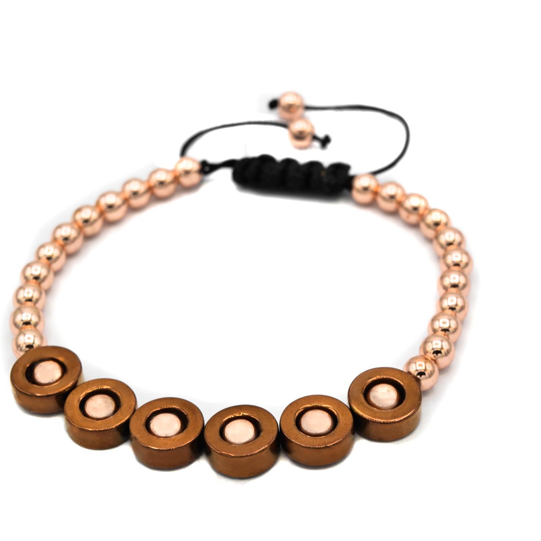 دستبند اسپرت دخترانه سنگ حدیدza-n124 از نمای نزدیک