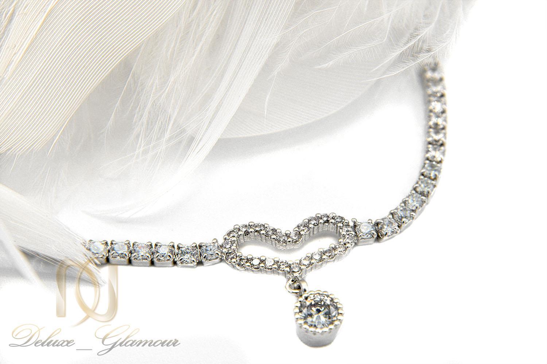 دستبند دخترانه ظریف استیل مارشالی ds-n398 از نمای نزدیک