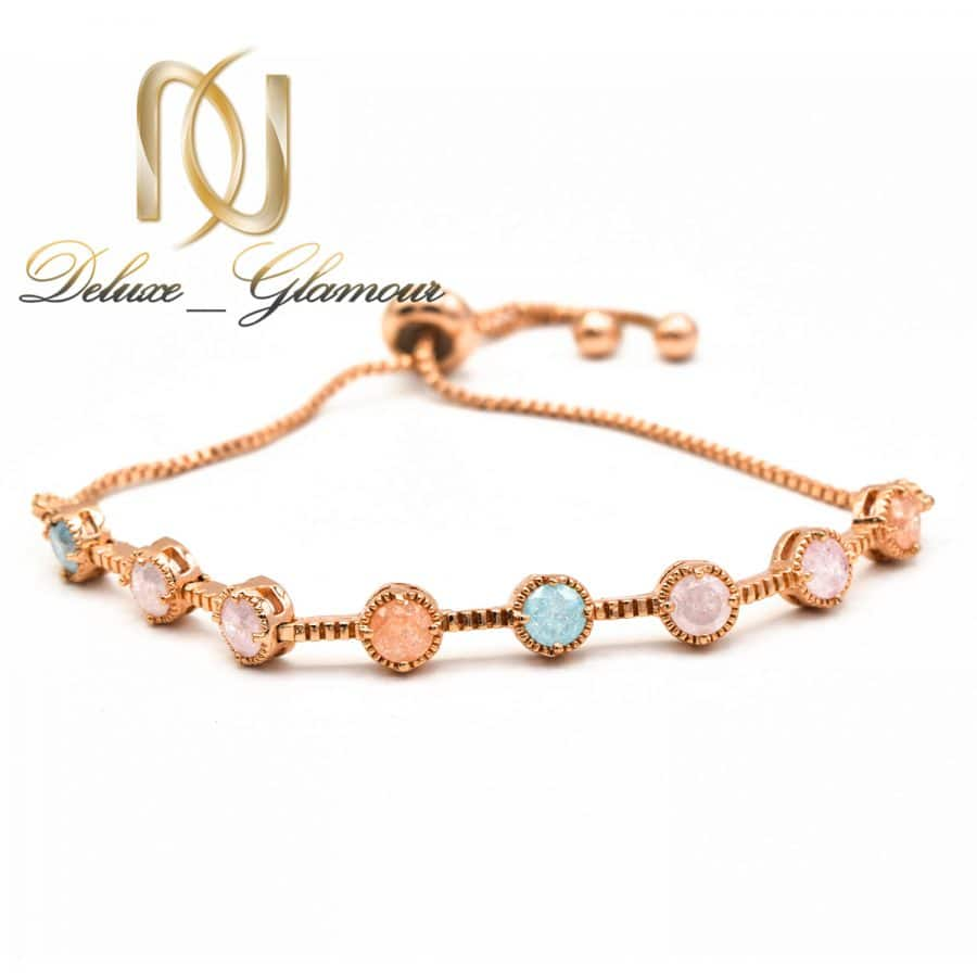 دستبند دخترانه کلیو با سنگ اوپال قیمتی ds-n400