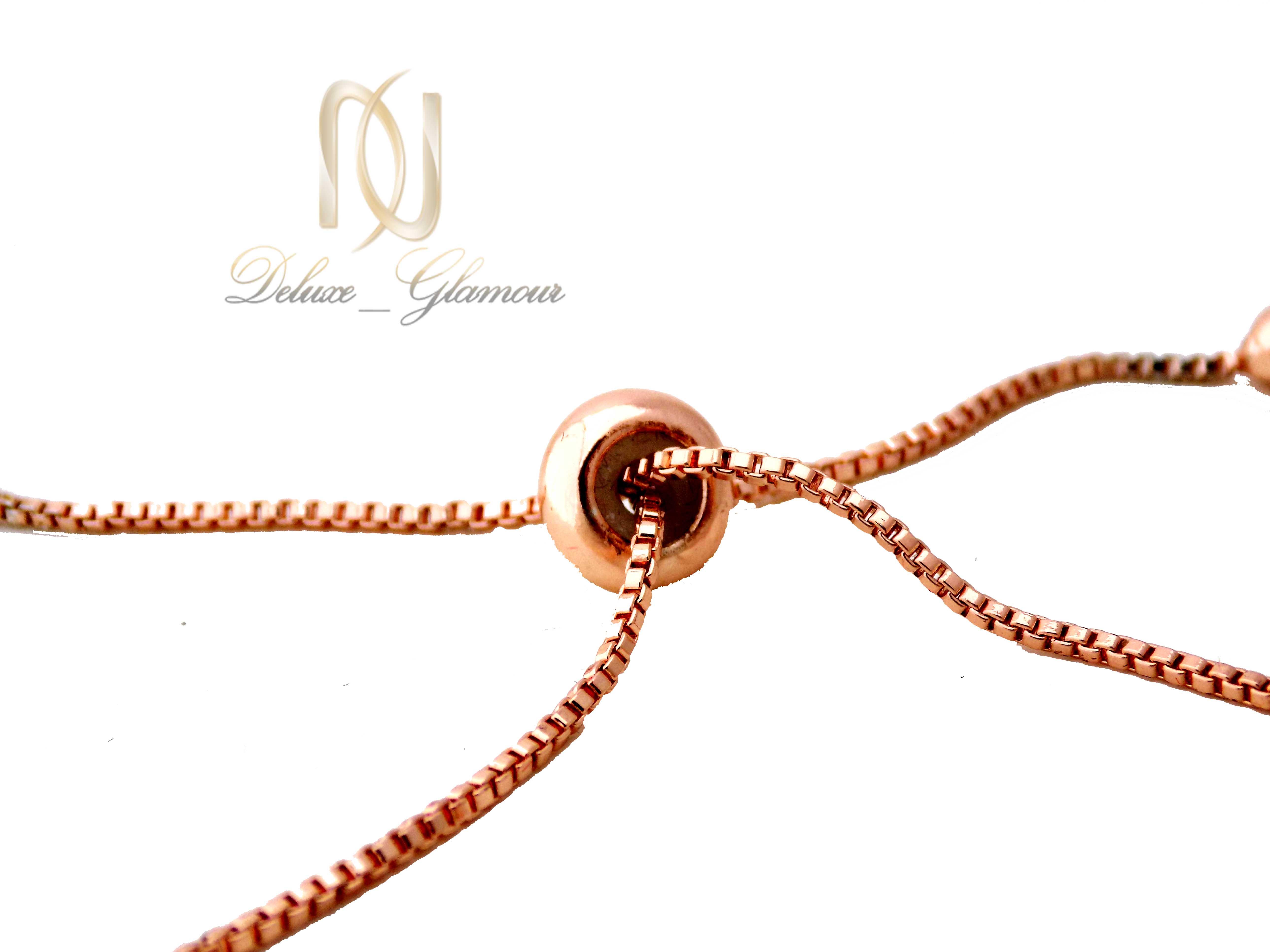 دستبند دخترانه کلیو با سنگ اوپال قیمتی ds-n400 از نمای پشت