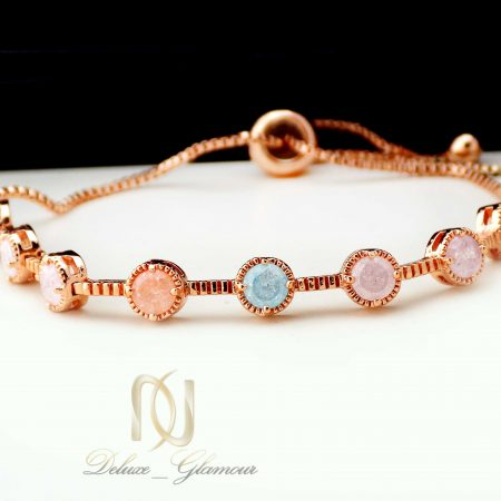 دستبند دخترانه کلیو با سنگ اوپال قیمتی ds-n400 از نمای پایین