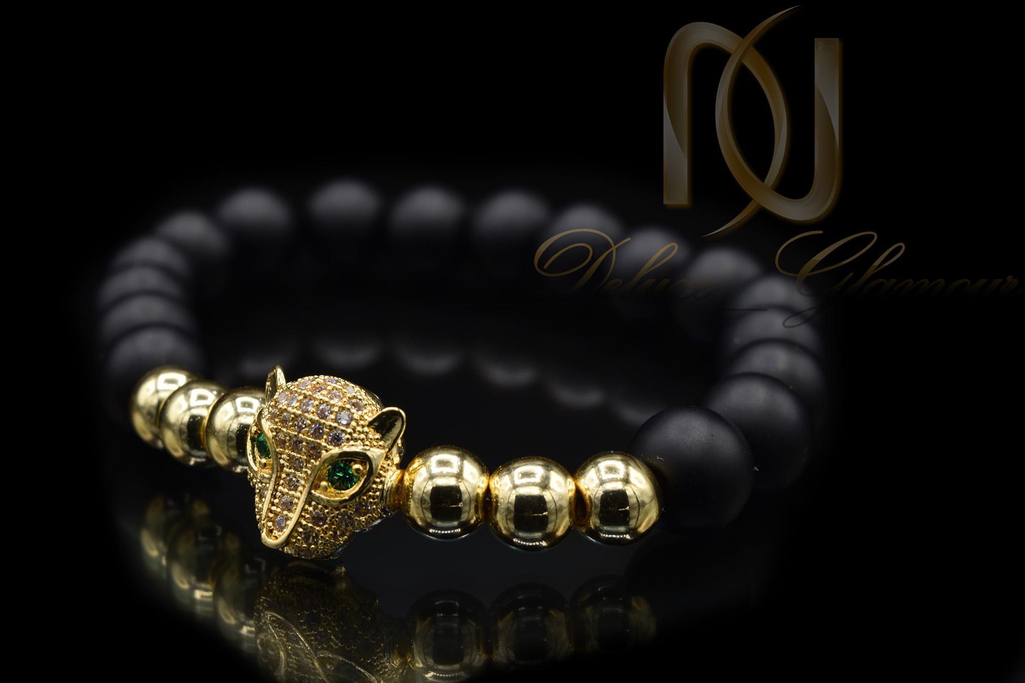 دستبند سنگی اسپرت دخترانه حدید و اونیکسzn-n120
