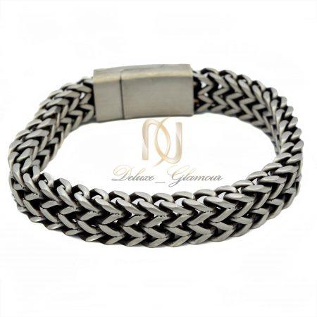 دستبند مردانه استیل طرح کارتیه ds-n384 از نمای بالا
