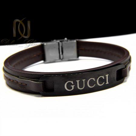 دستبند چرم مردانه طرح گوچی ds-n390