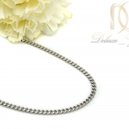 زنجیر مردانه نقره طرح کابلی 50 سانتی NW-N439