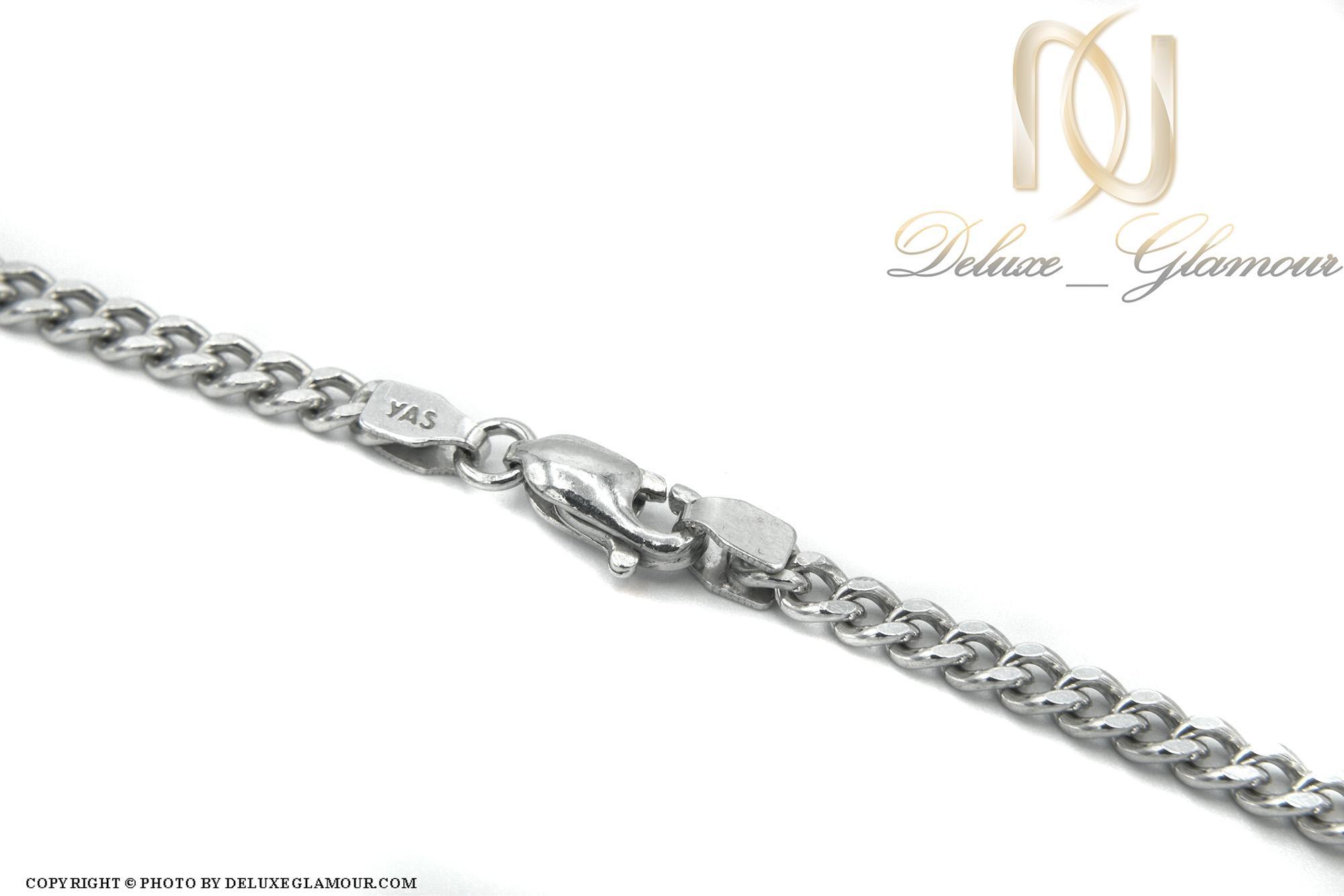 زنجیر مردانه نقره طرح کابلی 50 سانتی NW-N439 از نمای نزدیک