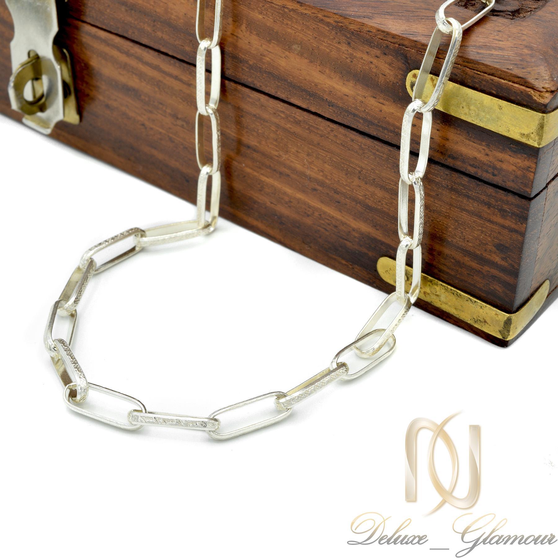 زنجیر مردانه نقره طرح کابلی 60 سانتی NW-N440 از نمای بالا