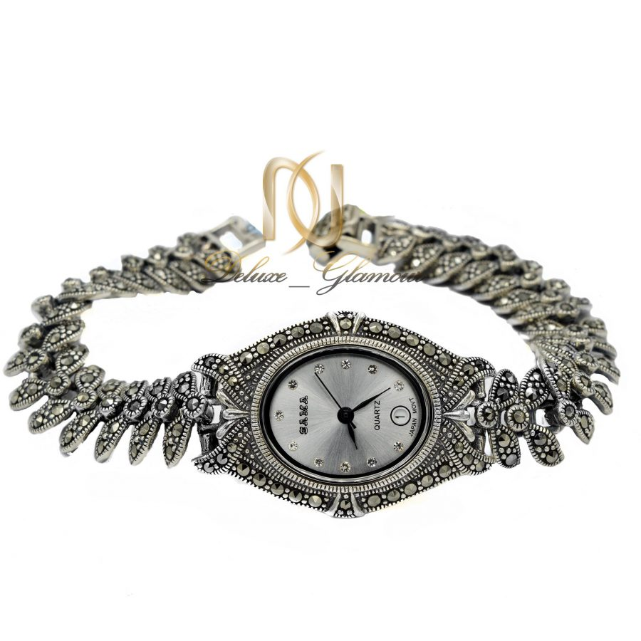 ساعت نقره زنانه سیاه قلم موتور گلد WH-N136 از نمای سفید