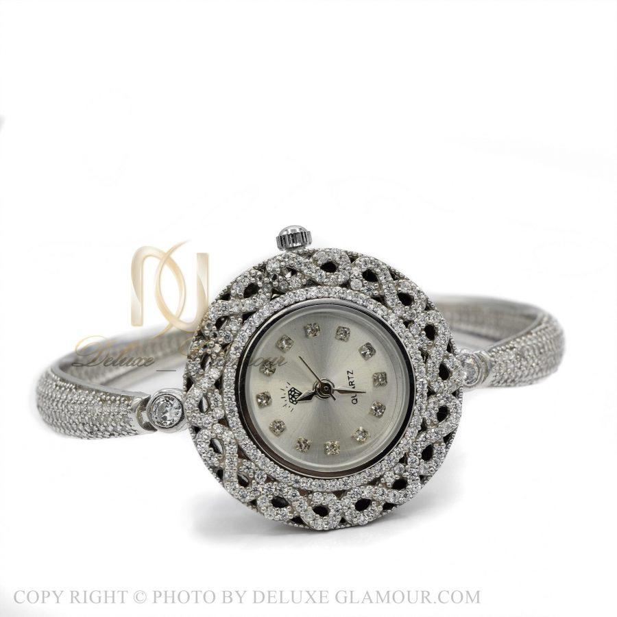 ساعت نقره زنانه جواهری شیک wh-n134 از نمای سفید