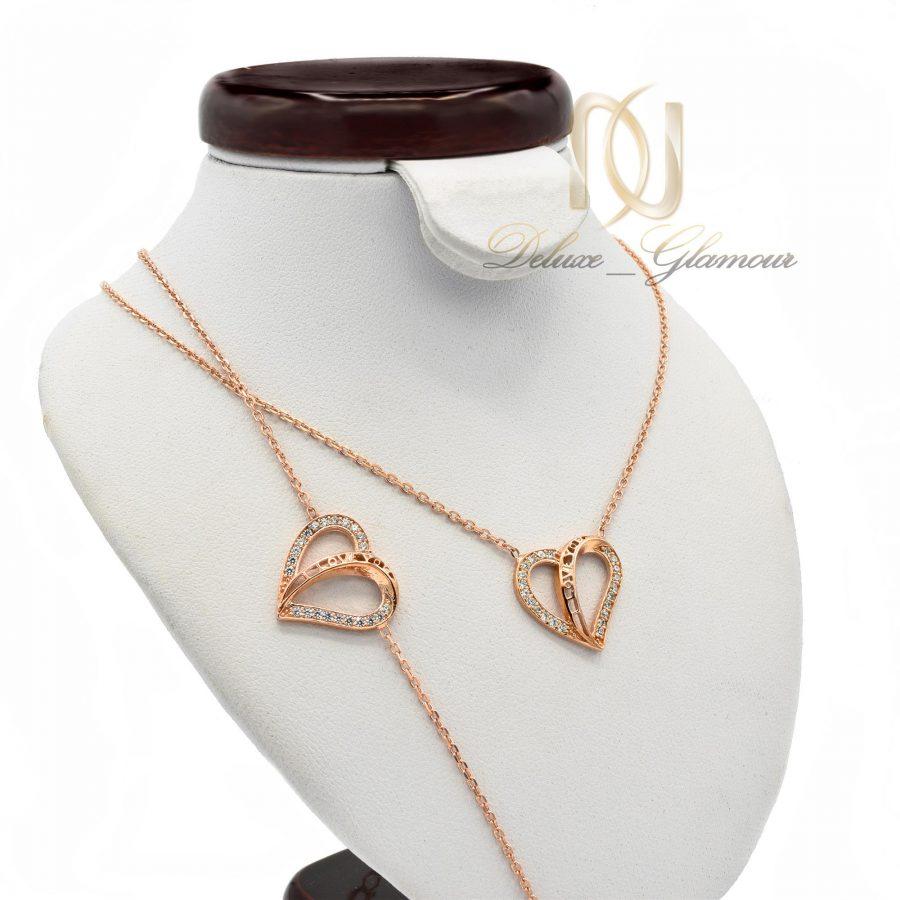 ست دستبند و گردنبند نقره دخترانه NS-N439 از نمای روبرو