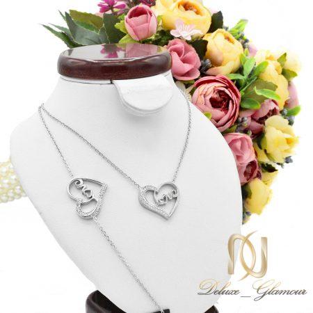 ست دستبند و گردنبند نقره دخترانه ns-n438