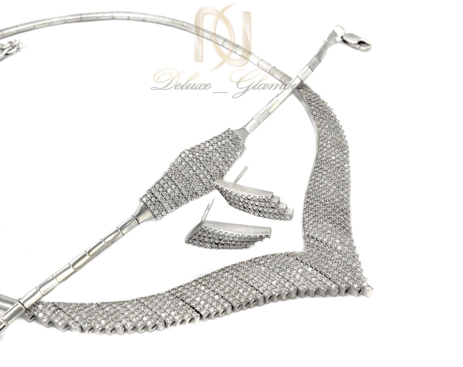 سرویس نقره زنانه طرح هفت NS-N437 از نمای کنار