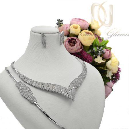 سرویس نقره زنانه طرح هفت NS-N437 از نمای روبرو