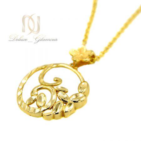 گردنبند دخترانه استیل تراش طرح طلا nw-n463 از نمای سفید
