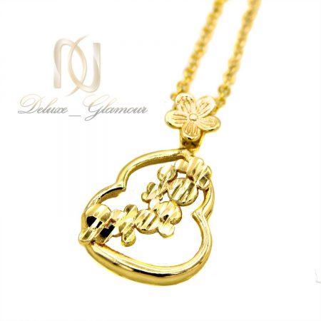گردنبند دخترانه ظریف استیل طرح طلا nw-n461