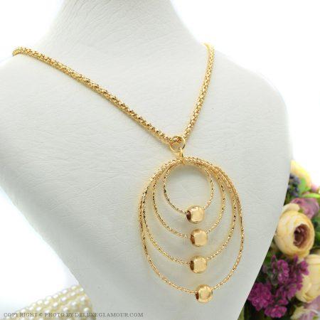 گردنبند رومانتویی بلند طرح طلا NW-N444 از نمای روبرو