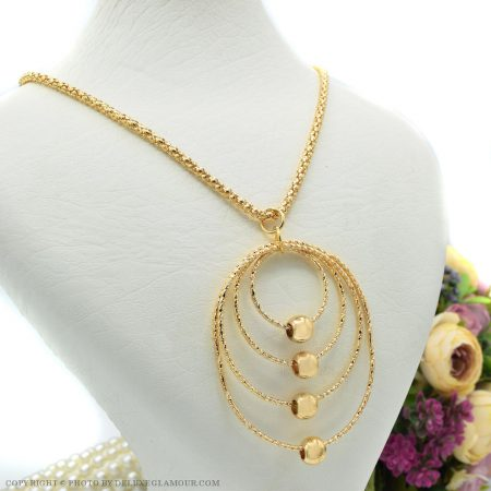 گردنبند رومانتویی بلند طرح طلا NW-N444