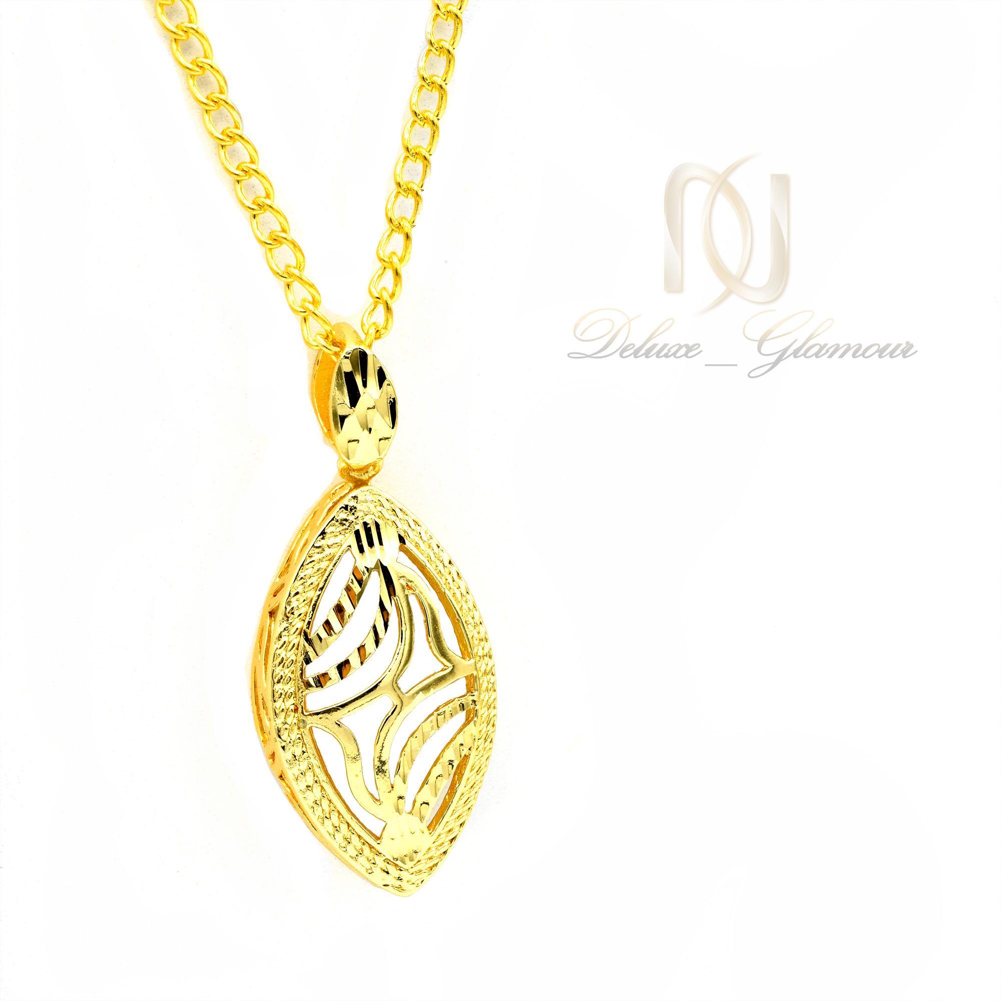 گردنبند زنانه برنجی طرح طلا nw-n458 از نمای روبرو