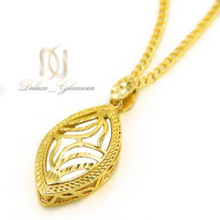 گردنبند زنانه برنجی طرح طلا nw-n458 از نمای کنار