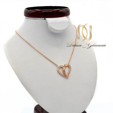گردنبند نقره دخترانه رزگلد طرح قلب NW-N447