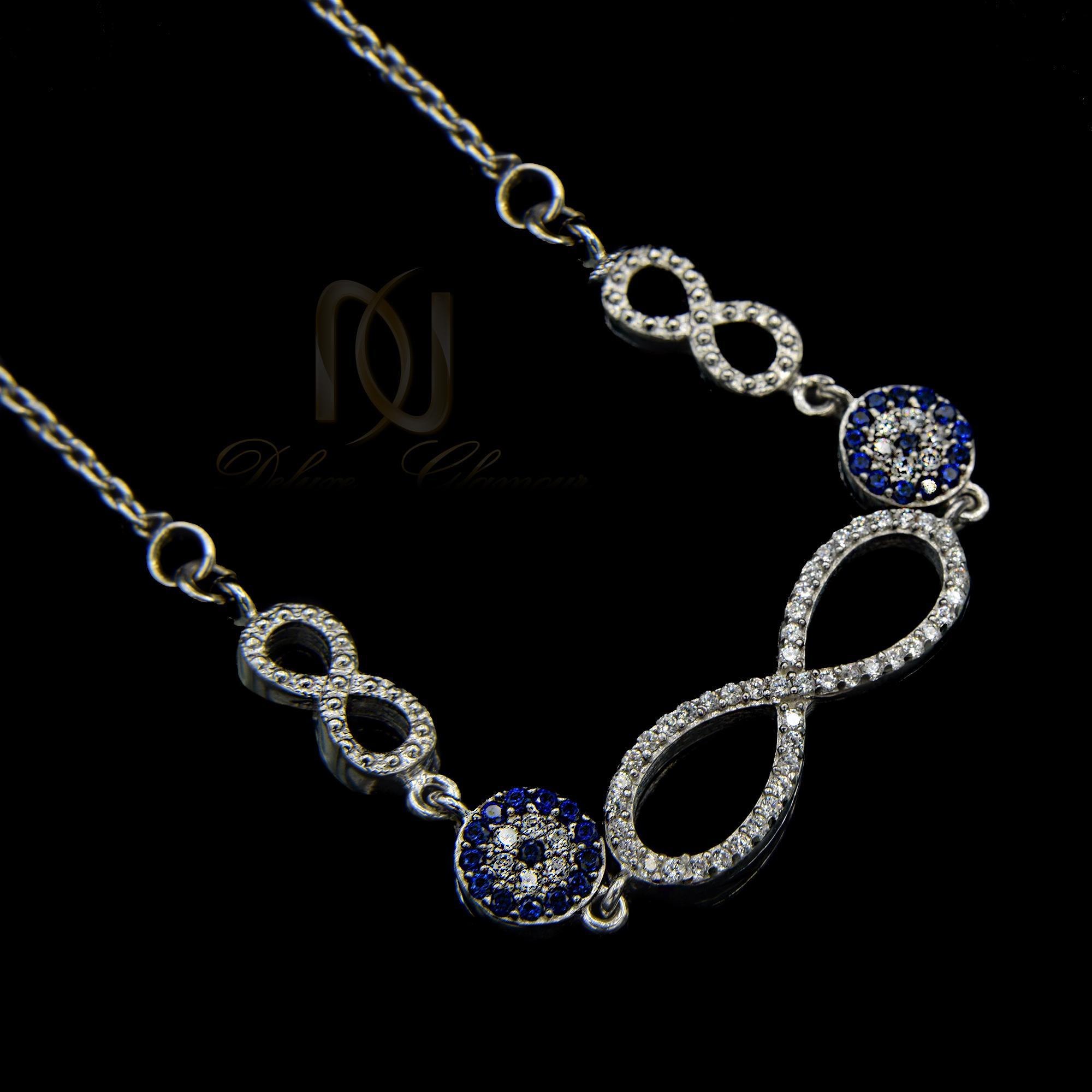 گردنبند نقره دخترانه طرح بی نهایت nw-n457