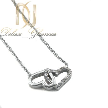 گردنبند نقره دخترانه طرح قلب ظریف nw-n456
