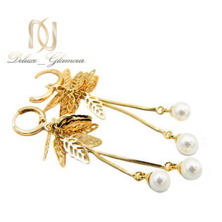 گوشواره زنانه آویزی ژوپینگ طرح طلا er-n173 از نمای کنار