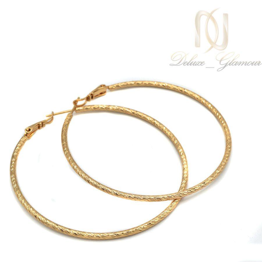 گوشواره زنانه ژوپینگ حلقه بزرگ er-n171 از نمای سفید