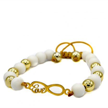 دستبند اسپرت دخترانه طرح بی نهایت za-n112 از نمای سفید
