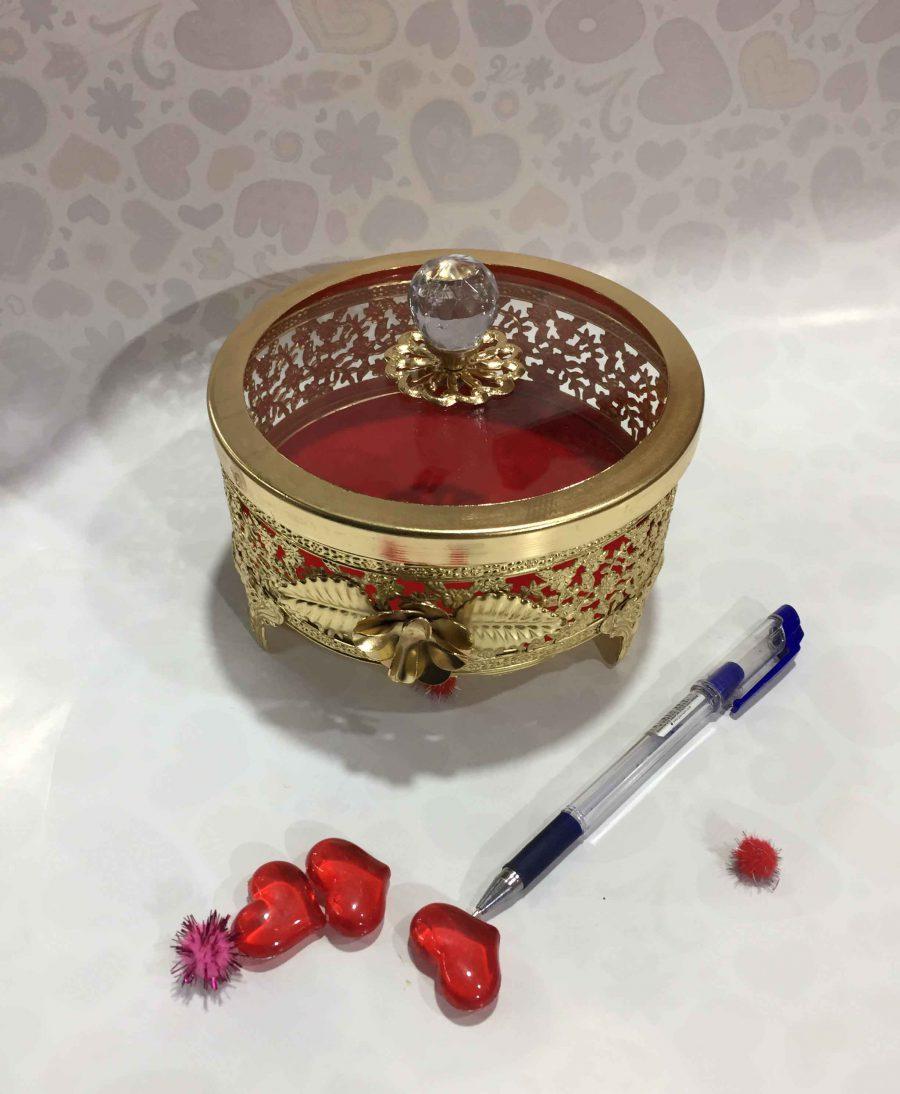 IMG 6514 scaled | شکلات خوری در شیشه ای طلایی Rk-n102