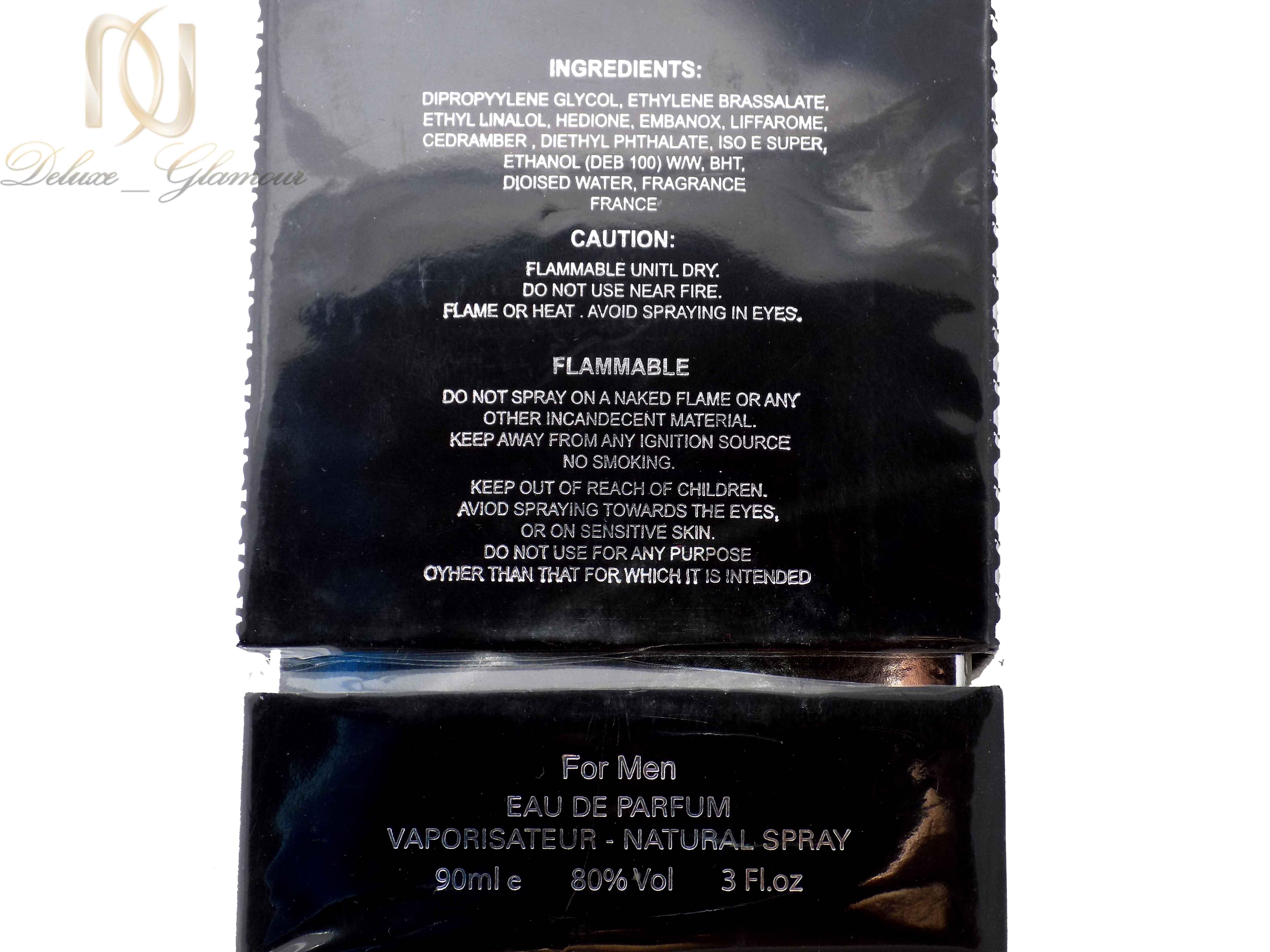 ادوپرفیوم مردانه بلک مارین woodlike نود میلی از نمای پشت