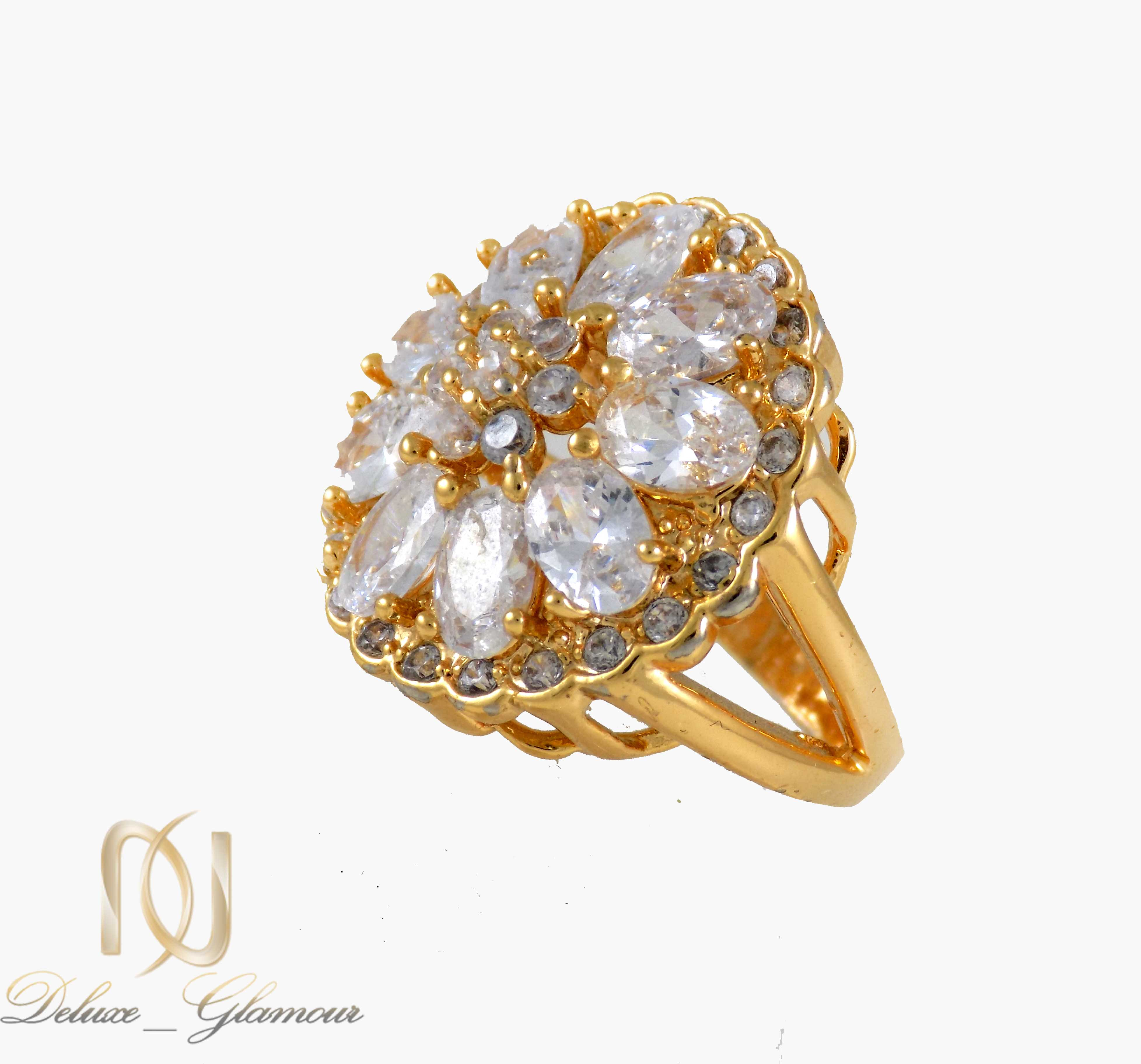 انگشتر زنانه استیل طلایی پرنگین rg-n312