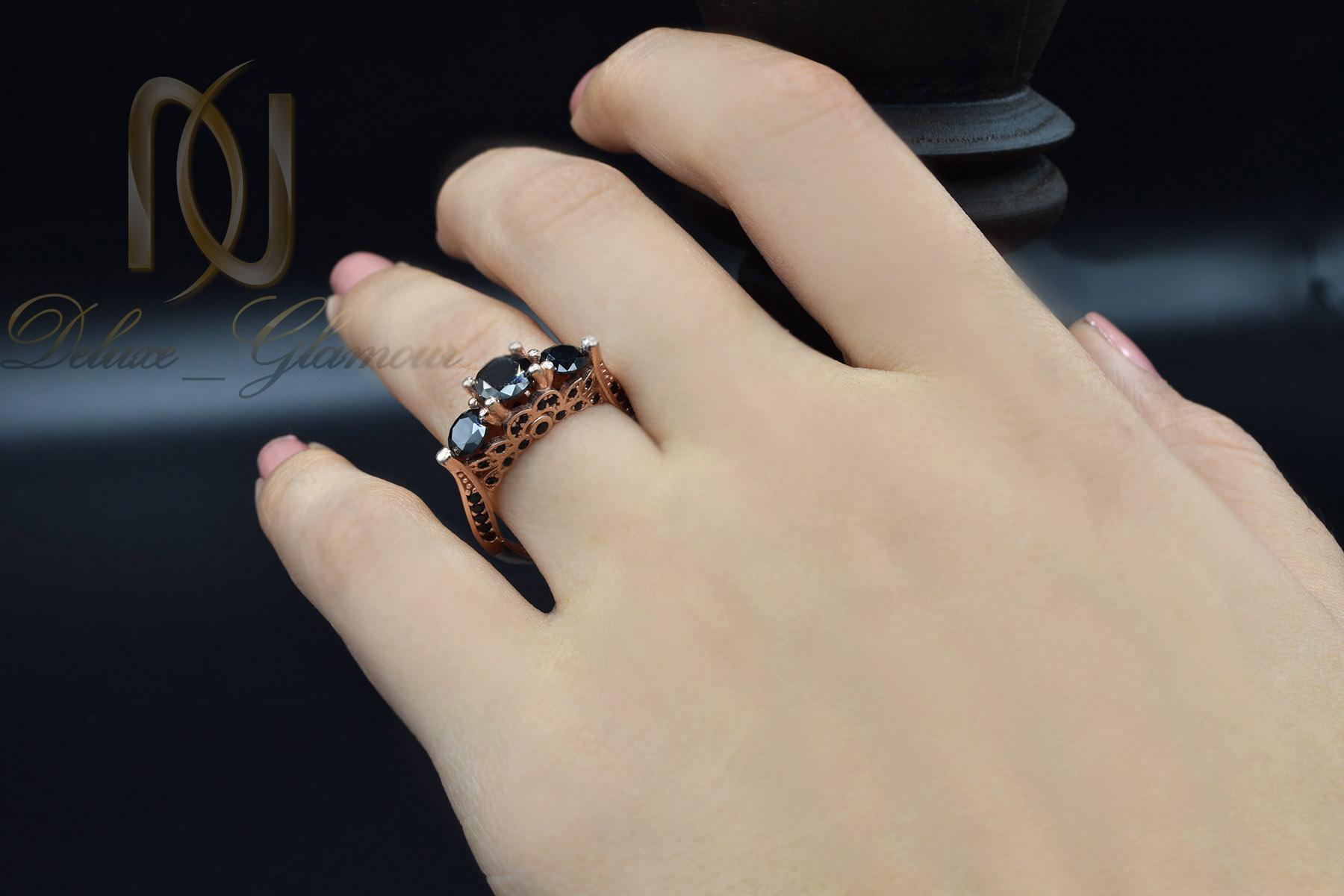 انگشتر نقره دخترانه رزگلد سه نگینه rg-n313