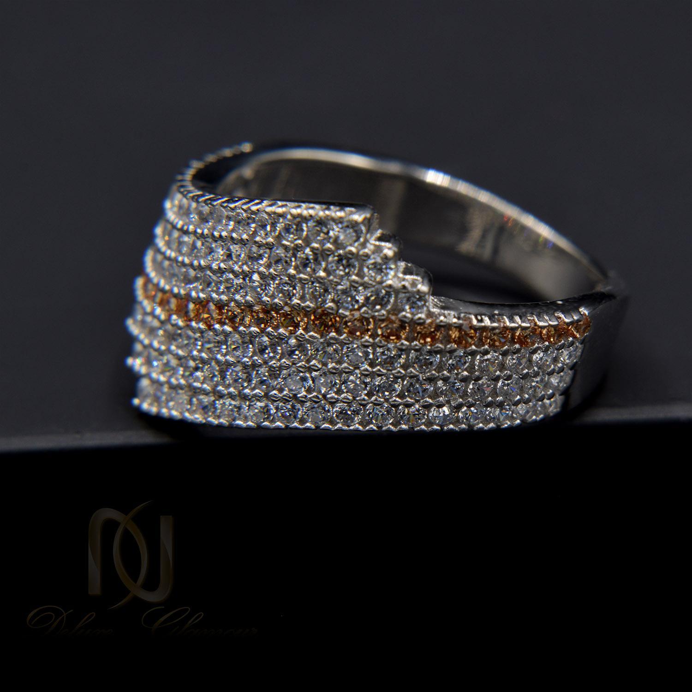 انگشتر نقره زنانه پرنگین طرح طلا سفید rg-n330